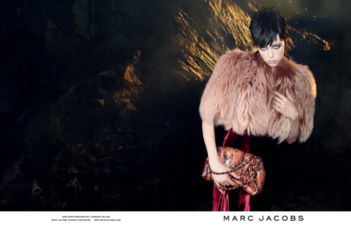 """""""Juergen Teller lensed the pair with Campbell playing the role of aloof elegance while McMenamy shows off some rather interesting facial expressions.""""  Marc Jacobs Fall 2013 ADS With Edie Campbell & Lily McMenamy 35"""