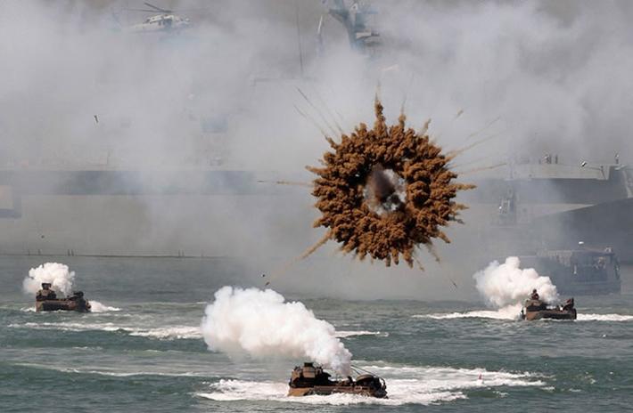 explosion guerra