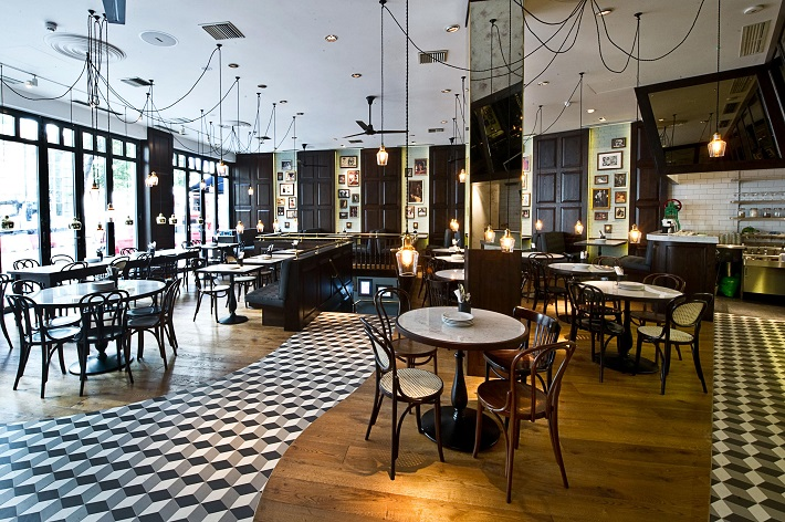 5 inspirational restaurant designs by afroditi krassa for Restaurant design london
