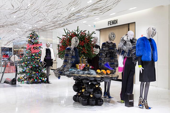 luxury furniture design at printemps and prada s christmas