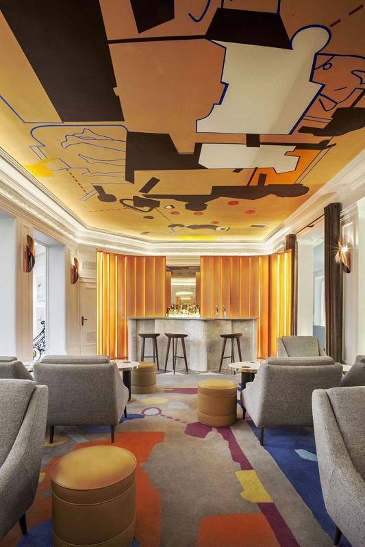 """""""François Champsaur restyles the Hôtel Vernet in Paris""""  François Champsaur restyles the Hôtel Vernet in Paris 1 Francois Champsaur hotel vernet paris yatzer"""