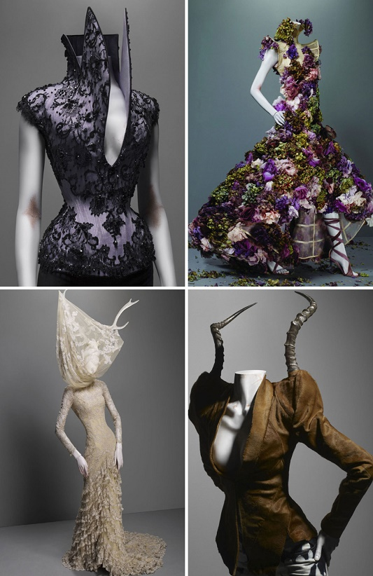 """""""Savage Beauty by Alexander McQueen visits London""""  Alexander McQueen's best designs will be exhibited in London te savage beauty2"""