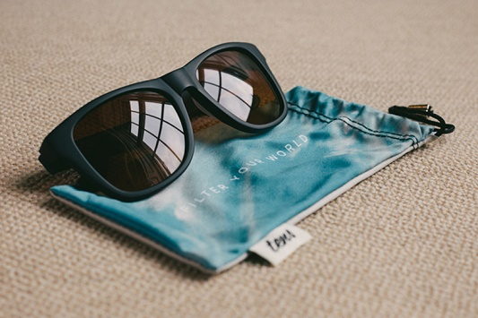 """See real life as an Instagram photo""  See real life as an Instagram photo tens sunglasses photo filter designboom02"