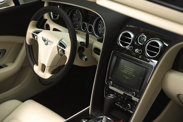 The luxury smatphone just got even more luxurious  The luxury smartphone just got even more luxurious 2014 Bentley Continental GTC interior front navigation