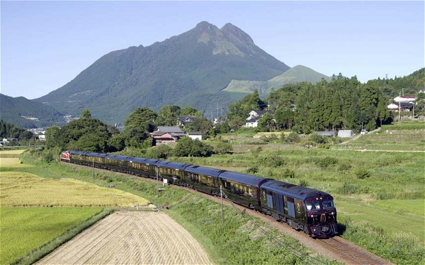 smooth ride for guests while they coast through the lush landscape of the southern Japanese island of Kyushu.  Luxury On The Rails With Japan's Seven Stars in Kyushu japan train glory 2691187b