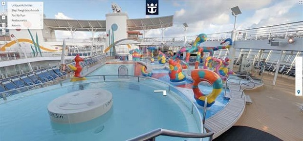 Allure of the Seas  Visit the world's largest cruise ship through Google Street View Maps ship4