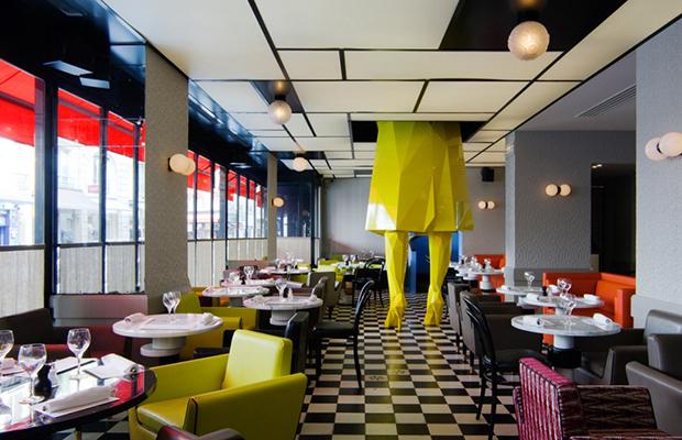 Le germain a restaurant halfway between alice in