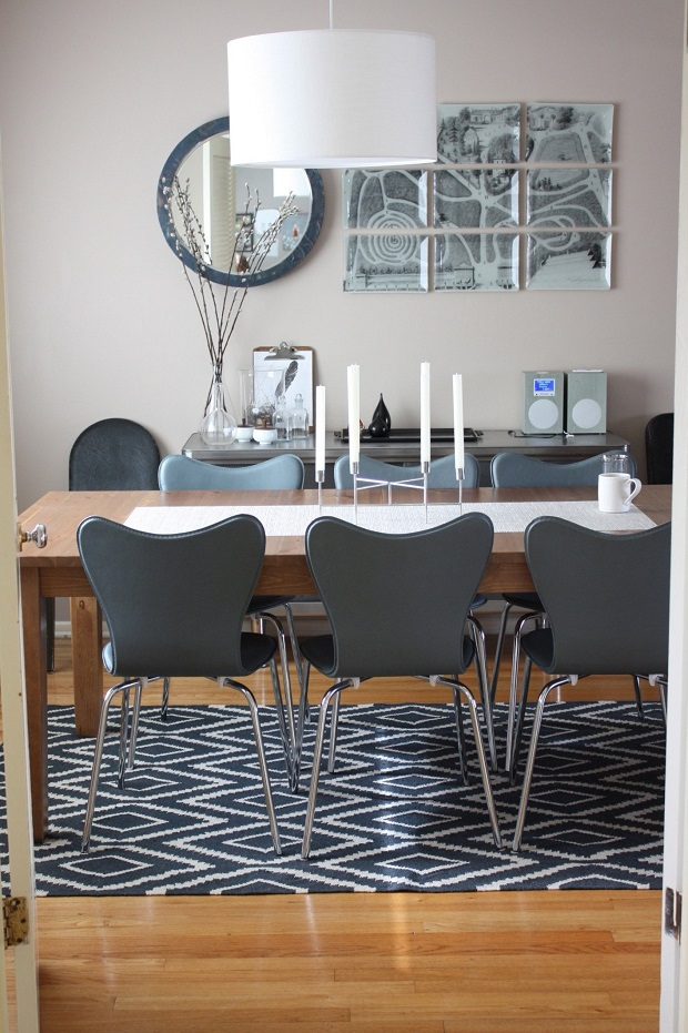 Thomas and Stephanie's Comfortably Modern Home  High end dining room tables  Thomas and Stephanies Comfortably Modern Home