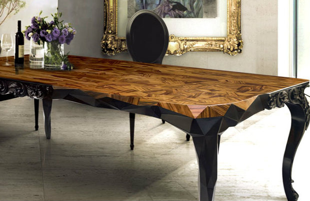 6 Elegant Wood Dining Room Tables, Unique Dining Room Tables