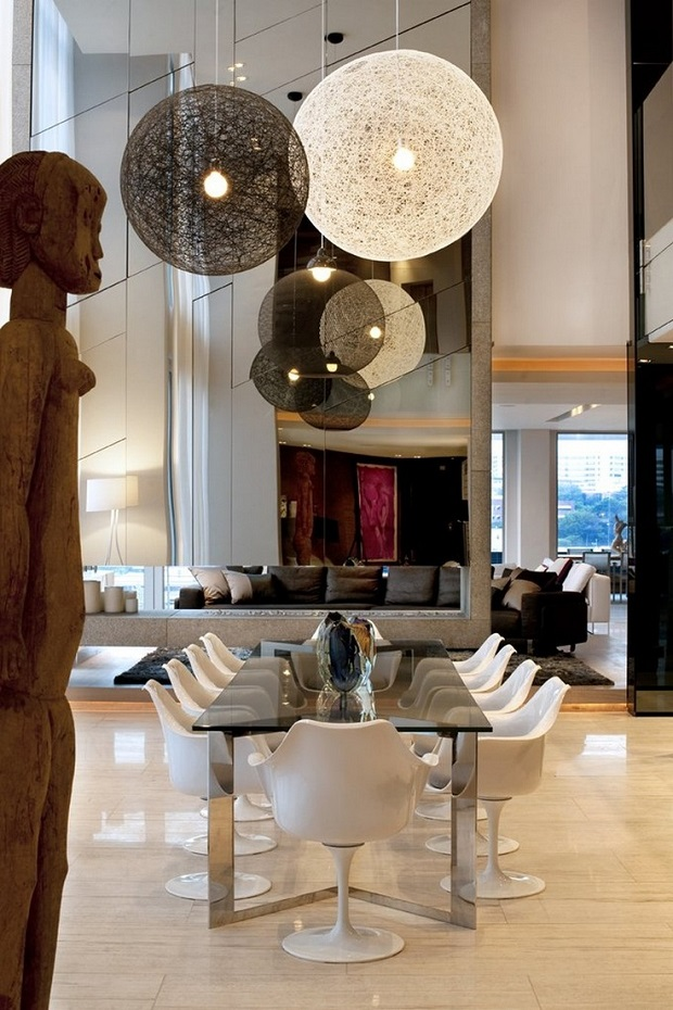 Saota Interiors dining room  High end dining room tables  www