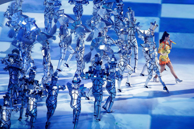 The Best Moments From the Super Bowl 2015 Halftime Show  The Best Moments from the Super Bowl 2015 halftime show katy perry superbowl halftime 05