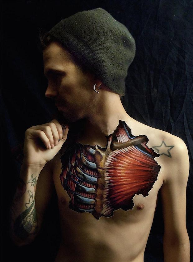 Danny Quirks Realistic Anatomical Ilustrations Boca Do Lobos