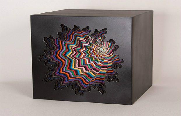 Papercut sculptures from Jen Stark