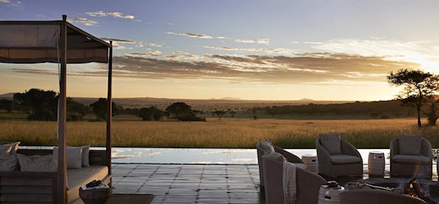 CNN's Best Luxury Travel Experiences in the World  CNN's Best Luxury Travel Experiences in the World serengeti lodge sunset banner