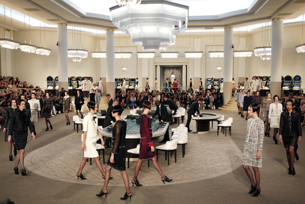 Karl Lagerfeld Builds Casino For Chanel Couture Show  Karl Lagerfeld Builds Casino For Chanel Couture Show chanel casino runway
