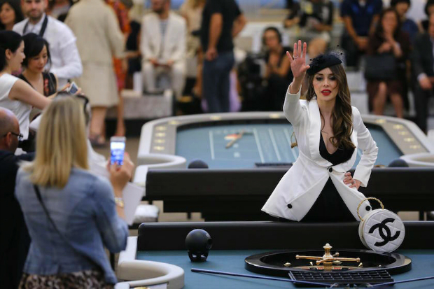 Karl Lagerfeld Builds Casino For Chanel Couture Show  Karl Lagerfeld Builds Casino For Chanel Couture Show chanel poker table
