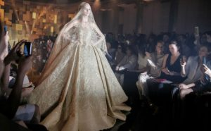 Elie Saab – Paris Welcomes Golden Couture