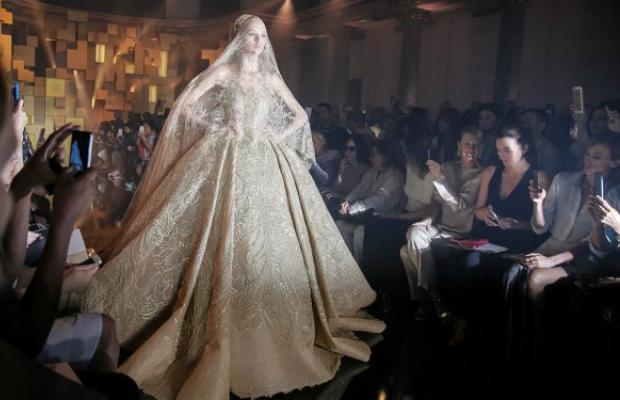 Elie Saab - Paris Welcomes Golden Couture