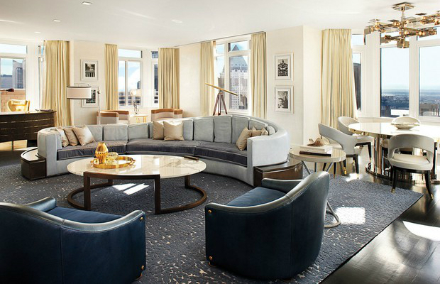 Best interior design the london penthouse by david for Design hotel few steps from the david