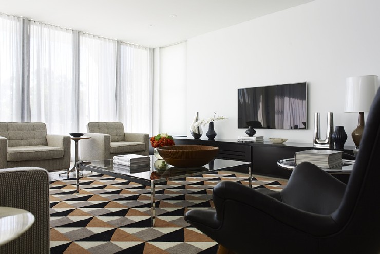 Top designers interior design projects by greg natale for Top modern interior designers