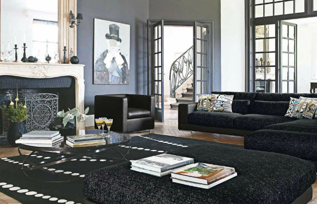 20 Black Inspirations for Modern Living Rooms