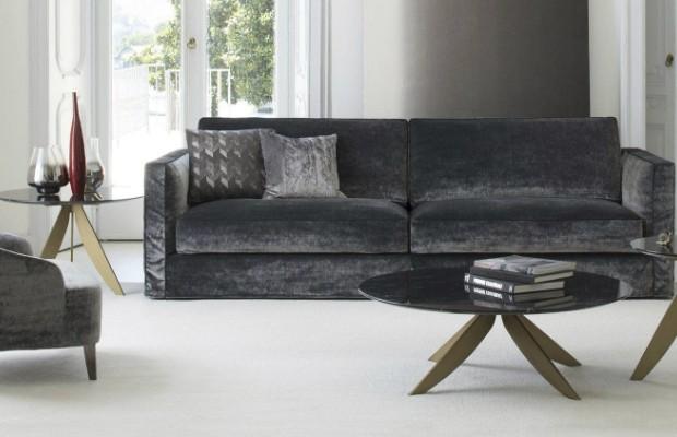modern velvet sofa www roomservice 007 sofa in navy velvet thesofa. Black Bedroom Furniture Sets. Home Design Ideas