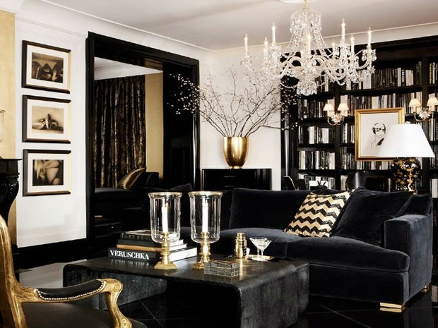 Luxury Gold And Black Furniture For Modern Interiors 14