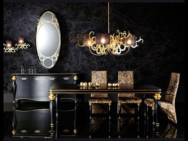 Luxury Gold And Black Furniture For Modern Interiors 24