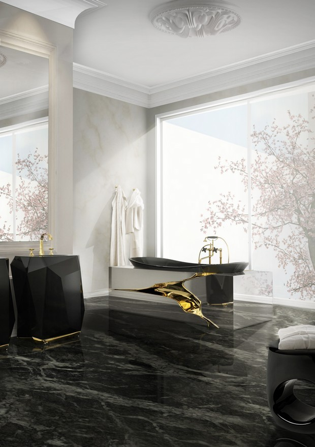 Luxury Gold and Black Furniture for Modern Interiors