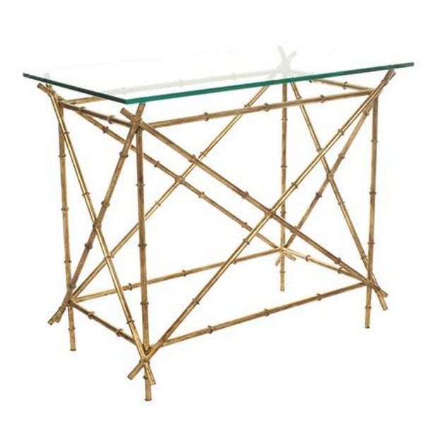 Glass console by Safavieh (2) Modern Console Table How to Choose a Modern Console Table Glass console by Safavieh 2