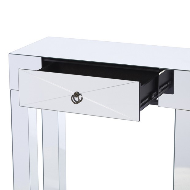 mirrored console by  Wildon Home (1) Modern Console Table How to Choose a Modern Console Table mirrored console by Wildon Home 1