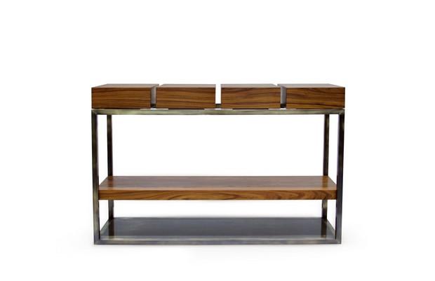 wooden console by BRABBU (1) modern console table How to Choose a Modern Console Table wooden console by BRABBU 1