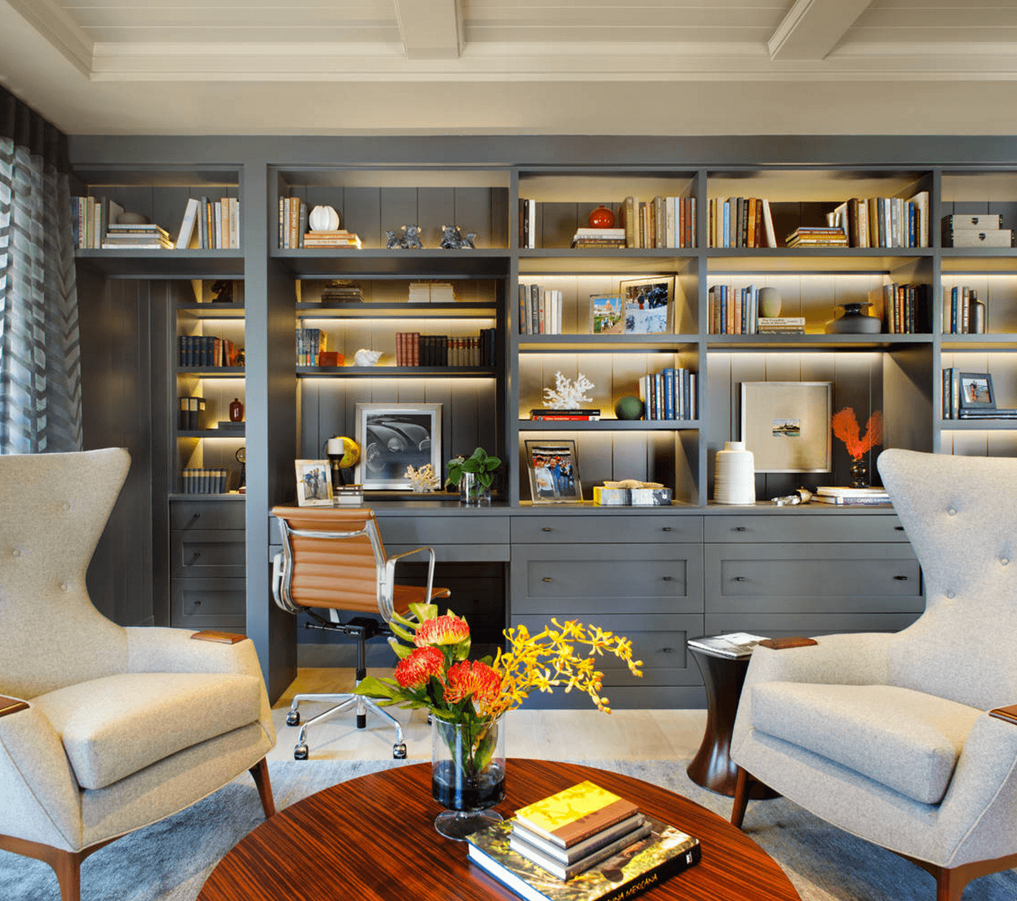 4 modern ideas for your home office d cor for Home office decor tips