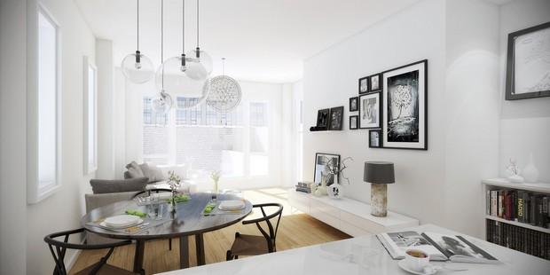 Chic Grey Living Room With Clean Lines: Modern Living Rooms With Elegant And Clean Lines