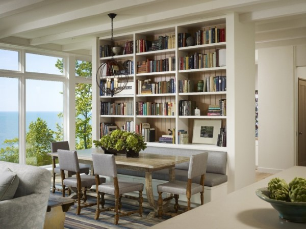 Trendy Duo: Dining Room & Library Bookshelves