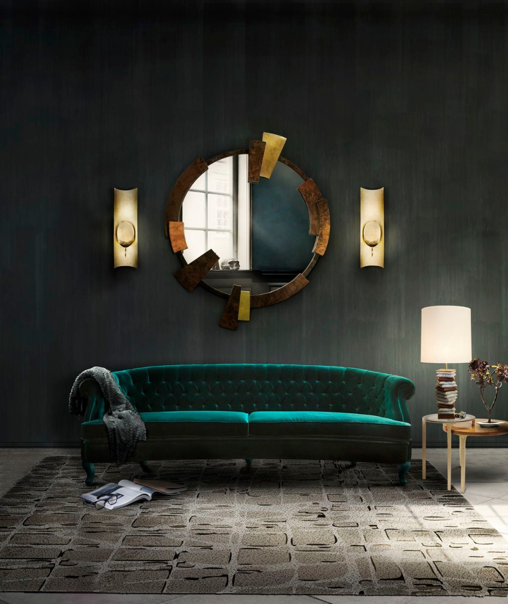 wall mirror 20 Exquisite Wall Mirror Designs for Your Living Room 026c2b8bcc4f642dc6d94ab841bdf665