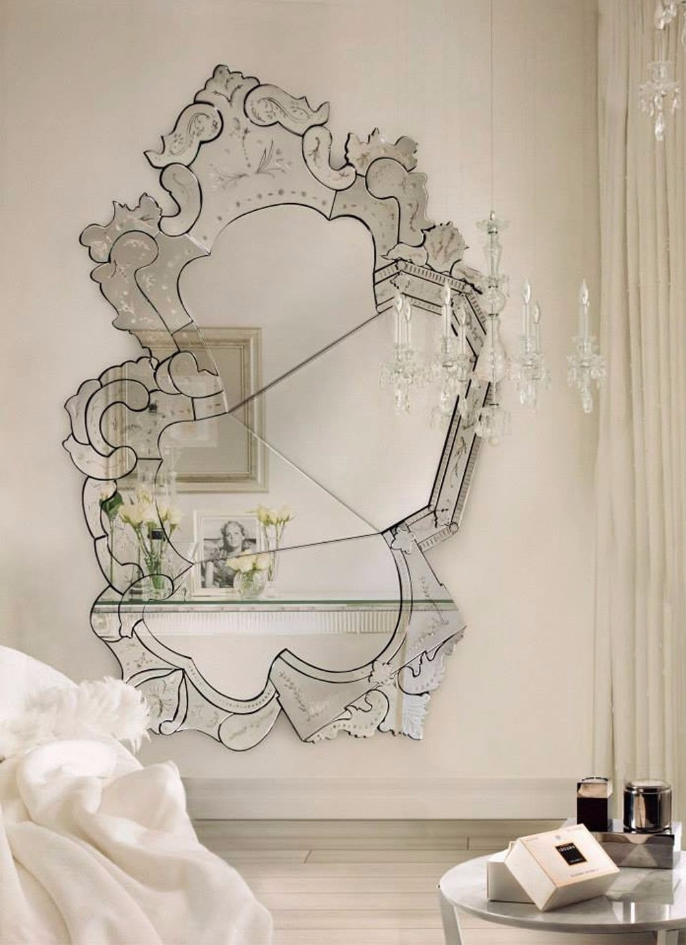 wall mirror 20 Exquisite Wall Mirror Designs for Your Living Room boca venicemirror