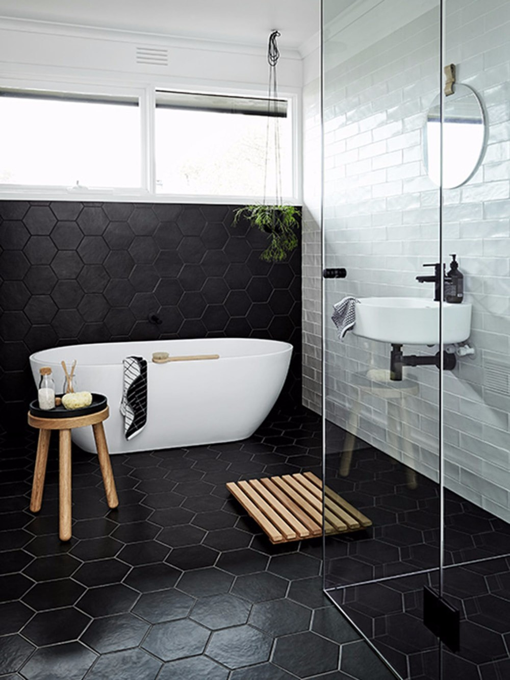 Get inspired with 25 black and white bathroom design ideas for White and black bathroom designs