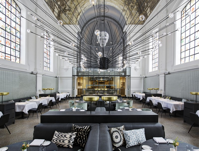 An Old Church Transformed Into Luxury Restaurant by Piet Boon Studio