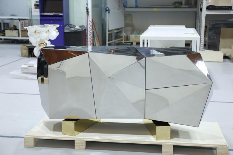 sideboard Diamond Pyrite Sideboard: a Masterpiece Unveiledby Boca do Lobo Diamond Pyrite by Boca do Lobo 1