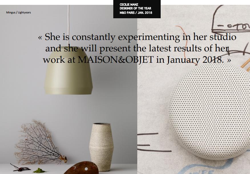 Maison et Objet 2018: Cecile Manz, the Designer of the Year maison et objet Maison et Objet 2018: Cecile Manz, the Designer of the Year Maison et Objet 2018 5