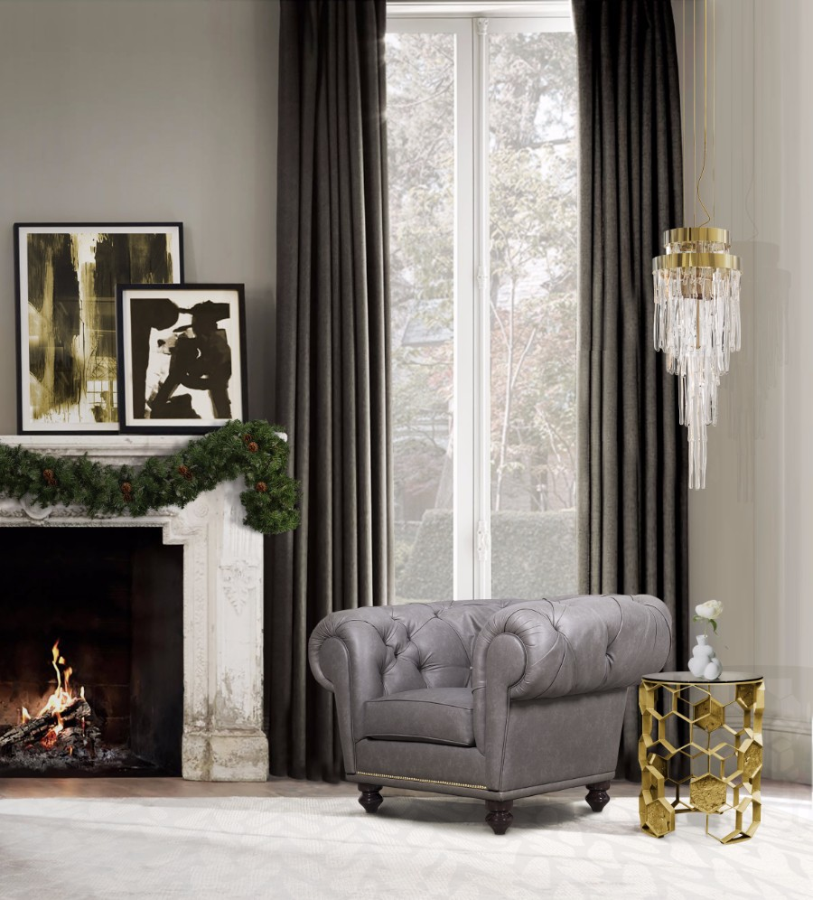 christmas decoration ideas Get Inspired by Golden Luxury Christmas Decoration Ideas chesterfield armchair hr 01 natal