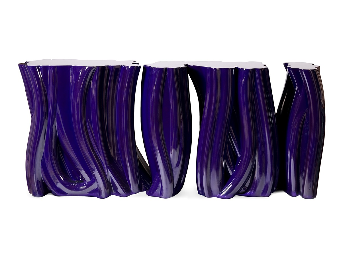 pantone Pantone Revealed 'Ultra Violet' As 2018 Color of The Year 152 0089 boca do lobo monochrome console table