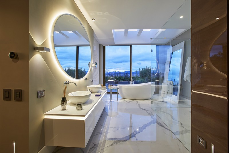 contemporary house Contemporary House in Bogota Merges Between Art and Nature modern design 6