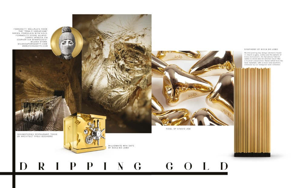 design Legacy: Design and Craftsmanship Testimony by Boca do Lobo Dripping Gold Legacy Vol2