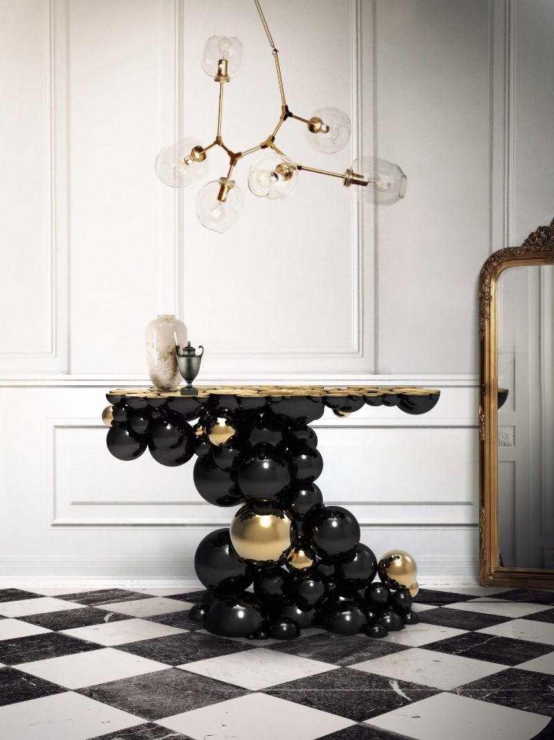 lladro Lladro And Boca Do Lobo Present An Innovative And Exclusive Lifestyle newton console limited edition boca do lobo 01