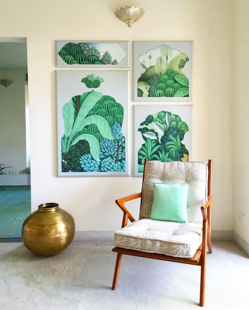 Tropical Prints, exotic plants, trend, design trend, interiors, fashion, home decor, tropical trend, tropical wallpaper, greenery, printed pillows, verdant, green, leaf prints, palm tree prints tropical prints Interior Design Trends 2018: Tropical Prints Interior Design Trends 2018 Tropical Prints 1