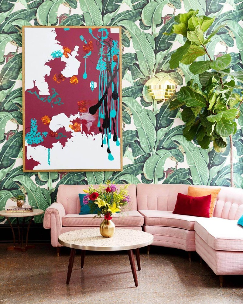 25 Trends In Home Decor For 2018: Interior Design Trends 2018: Tropical Prints