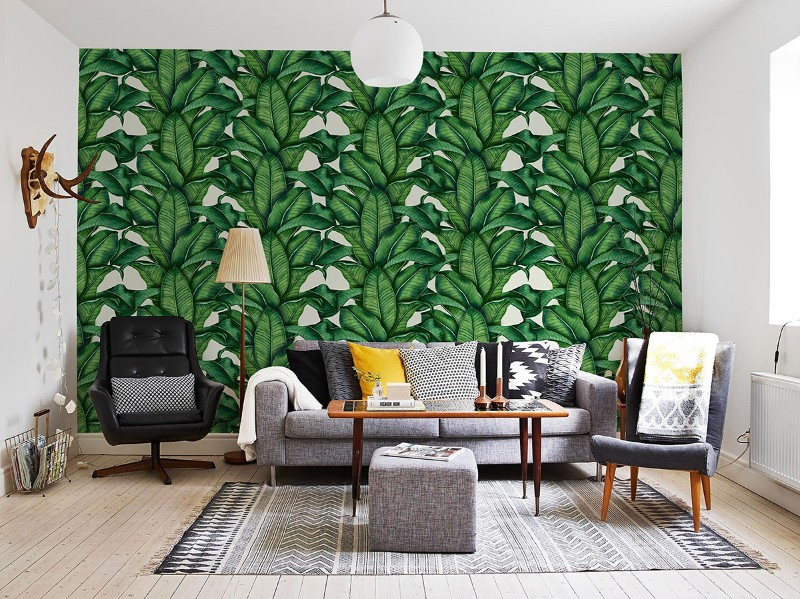 interior design trends 2018 tropical prints. Black Bedroom Furniture Sets. Home Design Ideas
