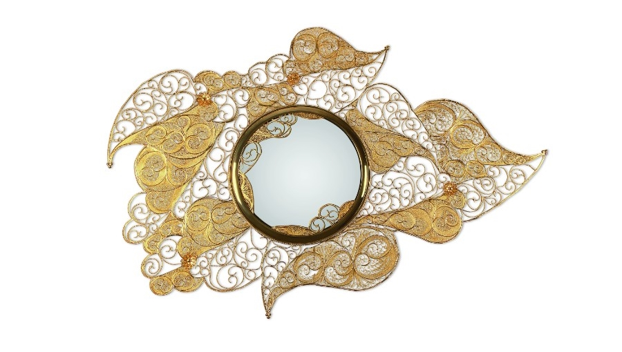 filigree Legacy The Design and Craftsmanship Testimony: Filigree Jewelry Filigree Mirror by Boca do Lobo 3 1